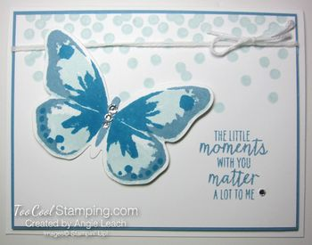 Dotty watercolor wings - marina