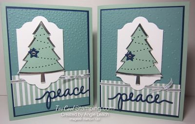 Peaceful pines mint - two cool