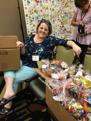Lyssa coordinating treats for Kanab workers