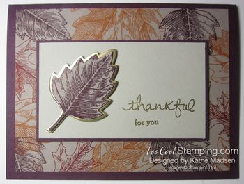 Kathes blackberry & gold vintage leaves 1