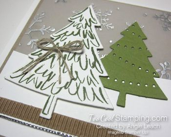 Peaceful pines snow trees - lights 2