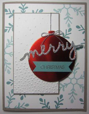 Holly Jolly Ornament - merry