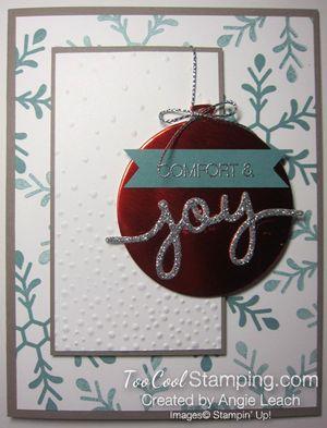 Holly Jolly Ornament - joy