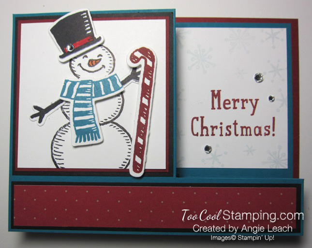 Snow place side pull card - snow man 1