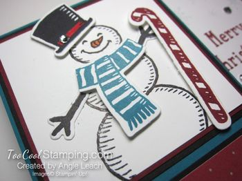 Snow place side pull card - snow man 3