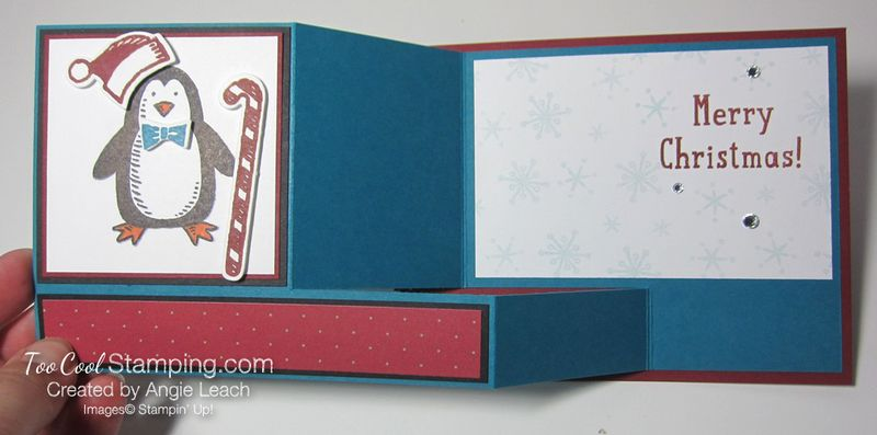 Snow place side pull card - penguin 3