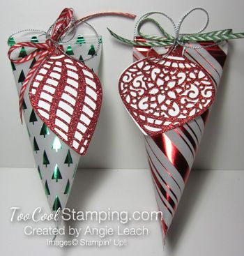 Holiday fancy foil vellum sour cream containers - two cool