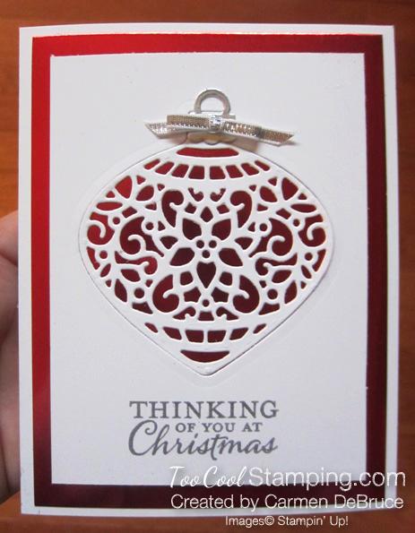 Carmen debruce - red foil ornament 3