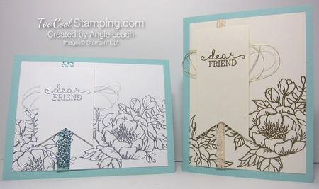 Birthday blooms embossed - two cool