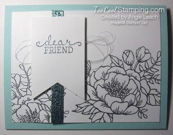 Birthday blooms embossed - silver