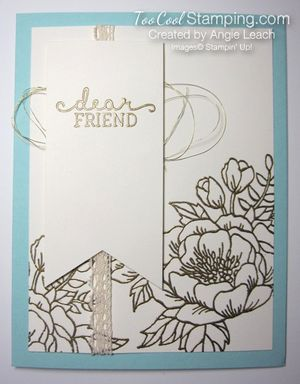 Birthday blooms embossed - gold