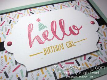 Hello Birthday Girl - mint2