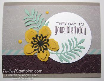 Botanical vellum - birthday