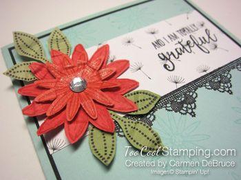 Carmen - grateful scrunched flower 2