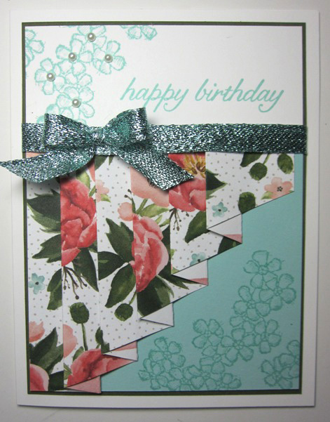 Birthday bouquet drapery - coral