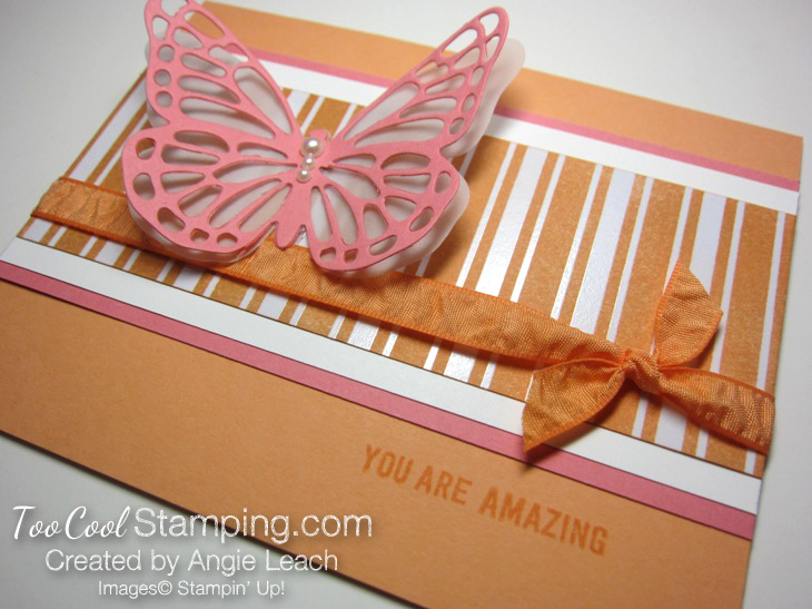 Flamingo butterfly resist - stripes 2