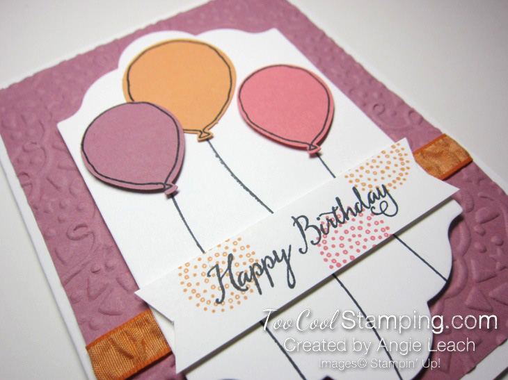 Birthday Balloons Peekaboo Peach - plum 2