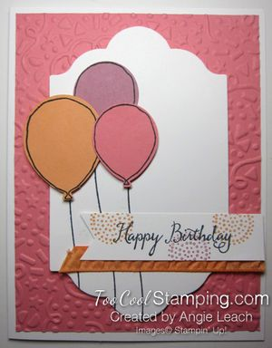 Birthday Balloons Peekaboo Peach - flamingo