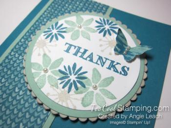 Blooms & wishes medallion - indigo 2