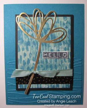 Blooms & bliss labeler - indigo hello