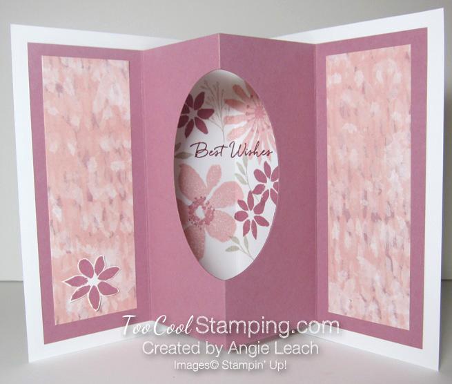 Blooms wishes tunnel card - sugarplum open