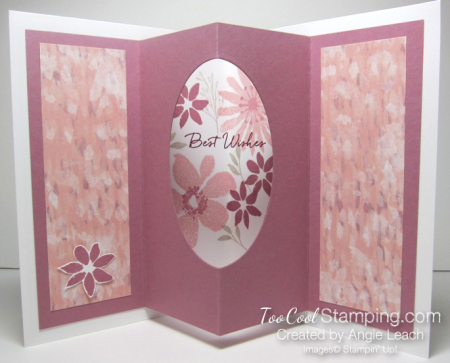 Blooms wishes tunnel card - sugarplum open 1