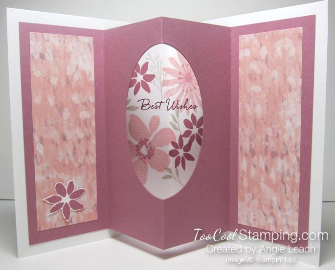 Blooms wishes tunnel card - sugarplum open 1