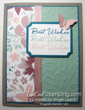 Blooms & wishes shimmery - mint