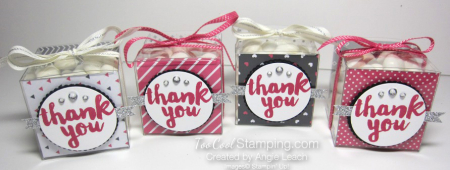Pop of pink thank you treat boxes - four cool