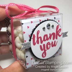 Pop of pink thank you treat boxes - arrows 2