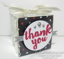 Pop of pink thank you treat boxes - hearts
