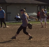 Ellie pitching