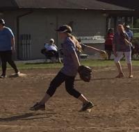 Ellie pitching