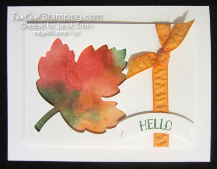 Watercolor wash leaves - janet