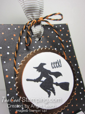 Spooky fun halloween treat totes - black dots witch 3