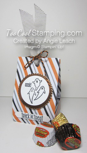 Spooky fun halloween treat totes - stripes