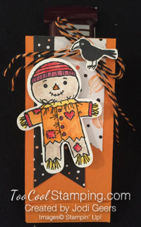 Jodi cookie cutter halloween treat - scarecrow