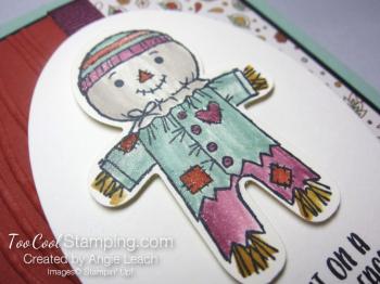 Cookie cutter halloween scarecrow - cajun 2.5
