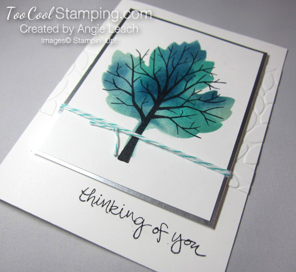 Sponged maple tree - thinking 3