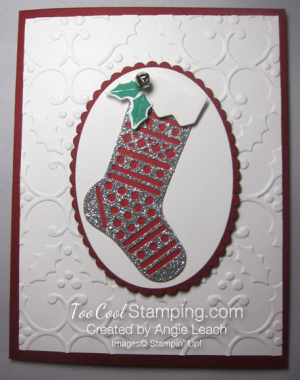 Hang your stocking single silver - lines