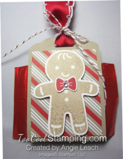 Cookie Cutter Christmas Chocolate Holder - stripes 2