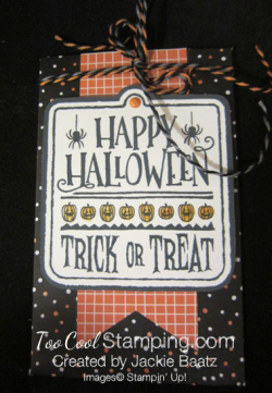 Jackie halloween black pouch