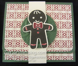 Darla this christmas gift card holder - gingerbread