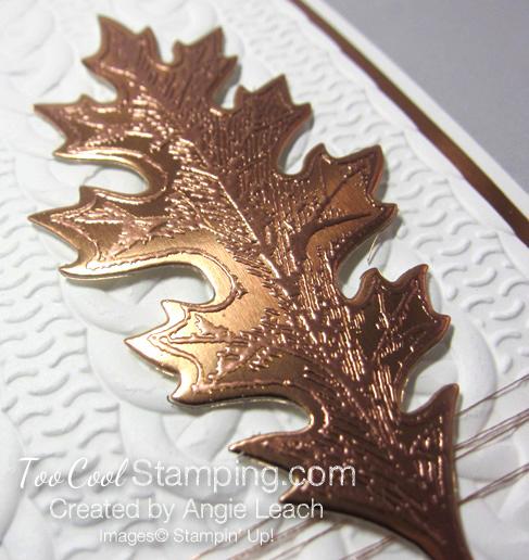 Copper Vintage Leaf - birthday oak 3