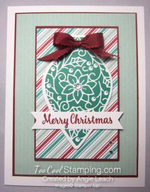 Retro embellished ornaments - emerald