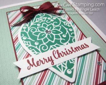 Retro embellished ornaments - emerald 2
