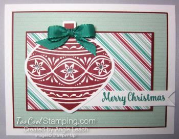 Retro embellished ornaments - cherry