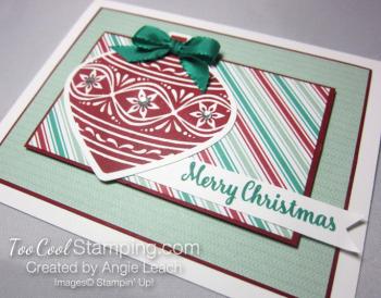 Retro embellished ornaments - cherry 2