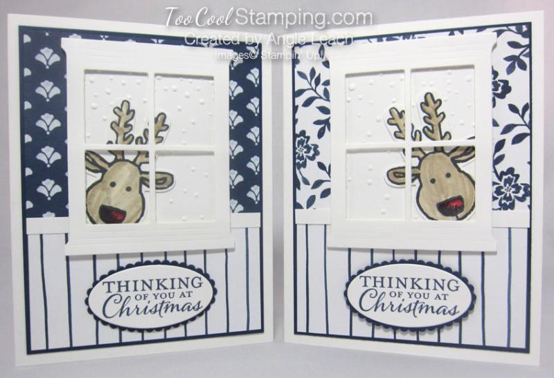 Peeking reindeer - two cool