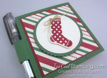 Hang Stocking Sticky Notes - green 2